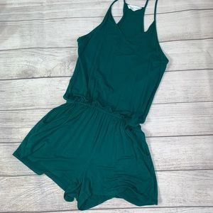 Pants - Size small boutique teal casual romper w/pockets